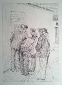 Amnistia. Litografía. 1980