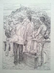 Emigrantes. Litografía. 1980