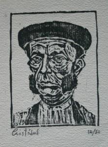 Torero. Xilografía. 1960