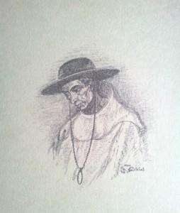 Misionero. Litografía. 1980