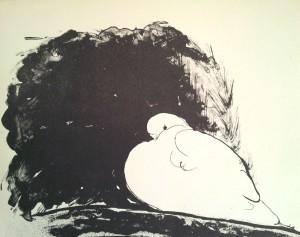 Paloma. Litografía. 1980