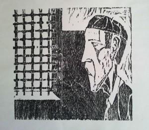 Preso. Linóleo. 1960