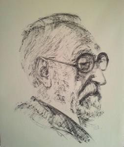Miguel de Unamuno. Litografía. 1980